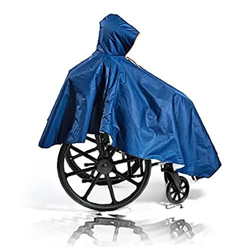 NIDONE Poncho resistente para silla de ruedas, reutilizable, impermeable, cobertura frontal con cremallera para silla de ruedas para personas mayores con discapacidad