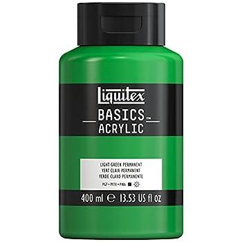 Liquitex 220718 Basics Acrylic Paint 13.5-oz Bottle Light Green Permanent 13 Fl