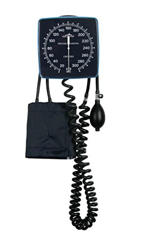 Medline MDS9400 Aneroid Blood Pressure Monitor, Wall Mount, Latex, Adult Size