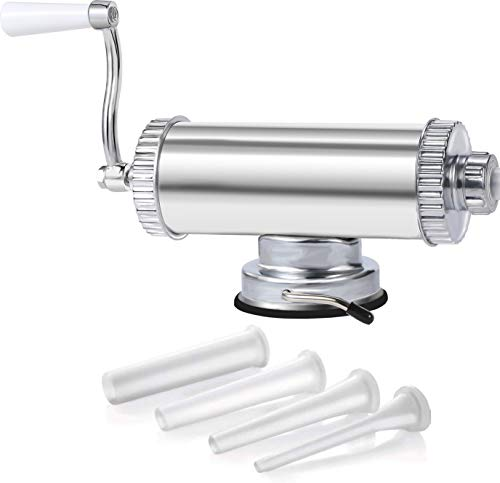 3LBS Sausage Stuffer - Aluminum Meat Sausage Maker with Suction Base...