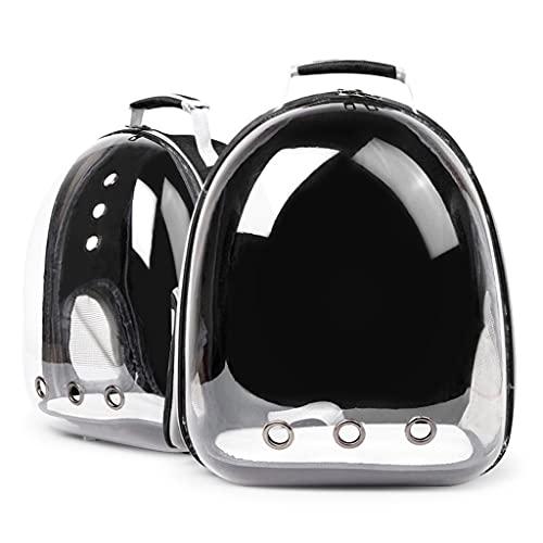 zdz Paquete del Soporte de la cápsula del Espacio, la cápsula Limpia Linda cápsula portátil Doble Hombro Bolsa de Mascotas, Adecuado para Personas con Mascotas (Color : Black)