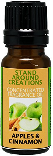 Concentrated Fragrance Oil - Apples & Cinnamon - Red juicy McIntosh apples, sprinkled w/fresh cinnamon. Infused w/essential oils.(.33 fl.oz.)