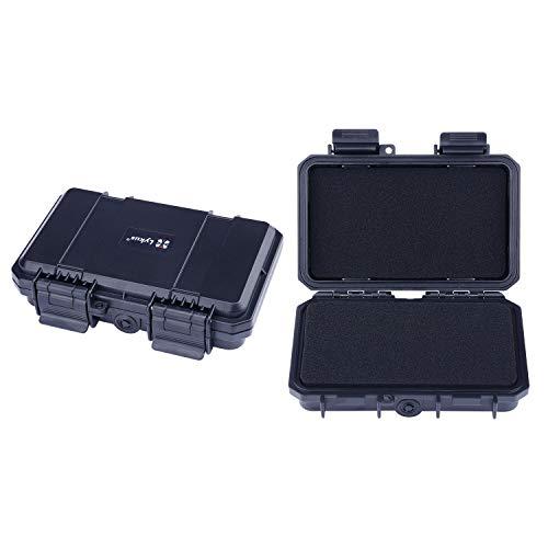 Lykus HC-1510 wasserabweisend Mini Koffer Trockenbox mit anpassbar Schaumstoff, Innengröße 15x8.5x3.8 cm