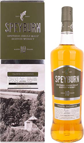 Speyburn 10 Years Old Speyside Single Malt Scotch Whisky, 1 l
