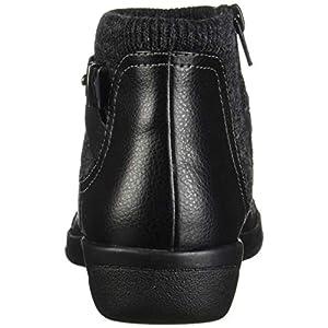 Clarks Women's Cheyn Kisha Ankle Boot, Black Tumbled Leather/Textile, 70 M US