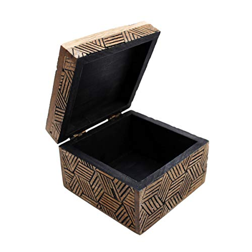 Gall&Zick Wooden Box with Lid Decorative Box Handmade