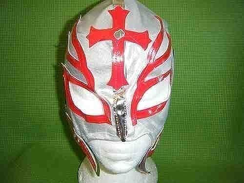 precios al por mayor SOPHZZZZ TOY SHOP Máscara Máscara Máscara de Lucha Rey Mysterio plata con Cremallera para Niños Traje Disfraz Serie Luchador Mexicano Ropa Lucha Libre Luchador Nuevo  productos creativos