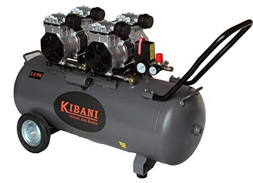 """compressore kibani silenzioso 100 litri nuovo modello"""" senza olio"""" 0-8 bar / 116 psi"""