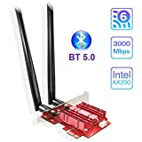 EDUP WiFi 6 Card Bluetooth 5.0 with Heat Sink, PCIe Network Card AX