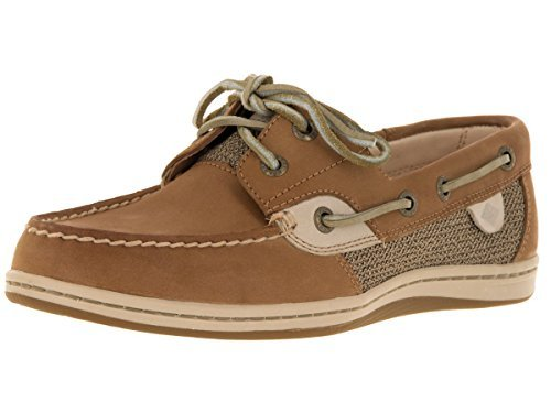 Sperry Womens Koifish Boat Shoe, Linen/Oat, 7