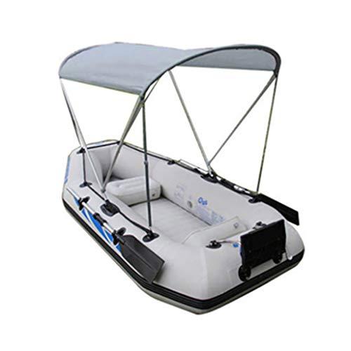 Toldo Inflable para Kayak/toldo de Proa, capó Superior de la embarcación con Cuatro Vendas Plegable de Aluminio Impermeable y Resistente a los Rayos UV (sin embarcación)