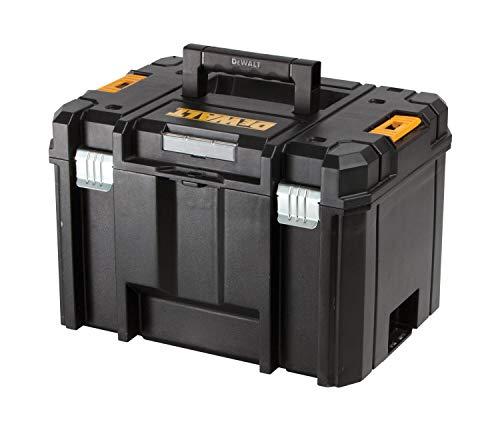 Dewalt Tstak VI stabelbare Werkzeug-/Transportbox (kombinierbar mit anderen Tstak-Boxen, sichere Verwahrung von Elektrowerkzeugen und Handwerkzeugen) DWST1-71195