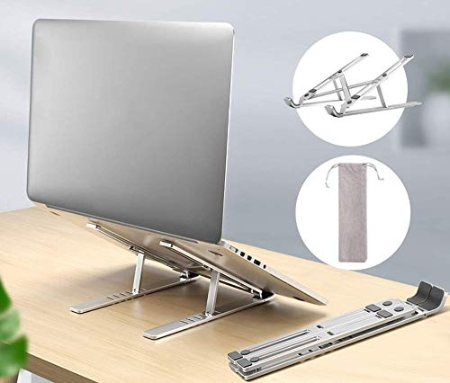 North Tech Laptop Stand/Desk, Adjustable/Portable Ventilated Desktop Riser Holder, Universal Lightweight Ergonomic Tray Mount Compatible with Laptop/Notebook Computer/Tablet
