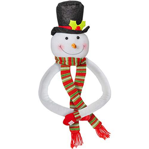 Ornativity Snowman Christmas Tree Hugger - Xmas Holiday Tree Top Winter Snow Man Topper Ornament Decoration for Christmas Tree