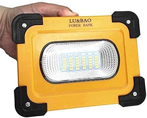 Luz de trabajo portátil para decoración del hogar 30W 2400 lúmenes Luz de construcción recargable por USB con imán con 7200Mah Power Bank Proyector para exteriores para carpa Camping Iluminación de