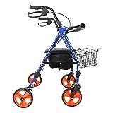 Z-SEAT Aluminum Mobility Walking Aid 丨Lightweight Folding Walking Frame 丨 Height Adjustable Elderly Walker Elderly Walker
