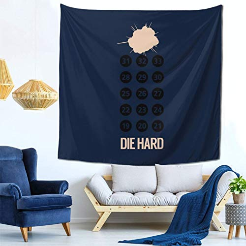 1033 Die Hard Nakatomi Plaza Floors Minimal Wall Hanging Tapestry for Living Room and Bedroom Spreads Good Vibes 59×59 Inches