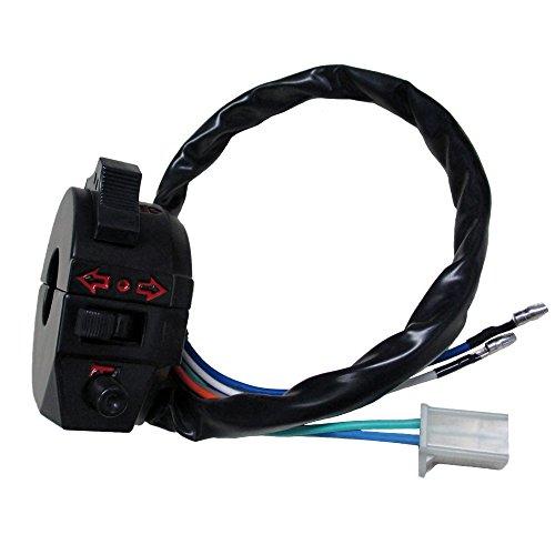"QAZAKY Replacement for Control Turn Signal Horn Light Low High Beam Left Switch Dirt Bike ATV Suzuki Yamaha Kawasaki KTM Kymco Polaris Universal 520 450 530 500 wr wrf xr 600 650 7/8"" Handlebars"