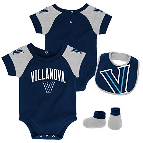 OuterStuff Infant Villanova University Creeper Set Baby Snapsuit Set (12 M)