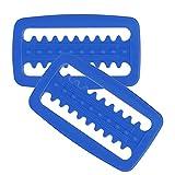 FOLOSAFENAR Hebilla De Cinturón De Peso De Buceo, Resistente A La Corrosión Hebilla De Cinturón De Peso De Esnórquel Duradera 2 Piezas para Buceo Libre para Esnórquel para Buceo(Azul)