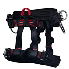 Comfortable Climbing Harness: With the traditional buckles, harness construction distributes pressure, and waist belt and leg loops are lined with breathable mesh to ensure comfort Safety Belt for Climbing: 2 equipment hooks and 2 d rings on the side...