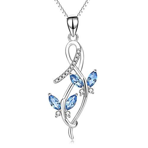 Schmetterling Kette Damen Halskette Schmuck 925 Sterling Silber Unendlichkeits Anhänger
