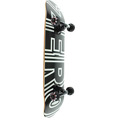 "Zero Skateboards Bold Black/White Mini Complete Skateboard - 7.25"" x 29"""
