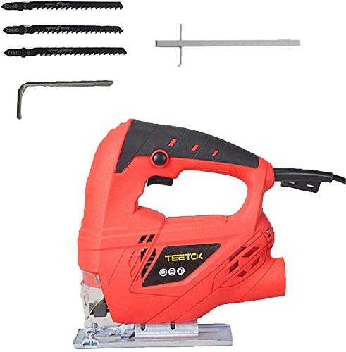 710W Electric Jigsaw Compact Saw Cutting with 4 Variable Speeds, Bevel...