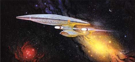 Star Trek TNG Captain Picards Ready Room Artwork of the Enterprise Litho Poster 11 x 24