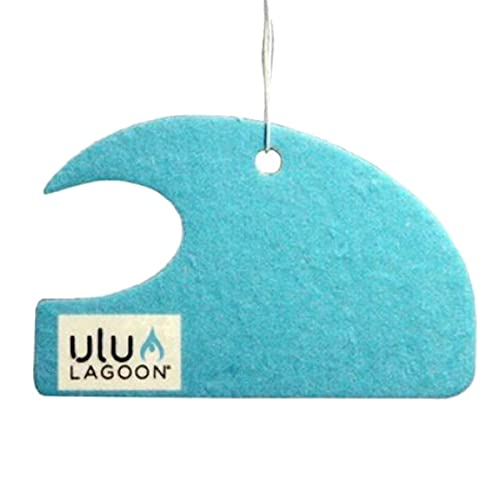 ulu LAGOON | 3-Pack of Blue Mini Wave Air Fresheners | Coconut Surf Wax Scent | Made in the USA