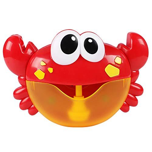 Beetest Macchina per Bolle di Sapone, Music Bubble Maker Machine Blower Giocattolo Forma di Granchio con 12 Canzoni per Bambini Docce da Bagno