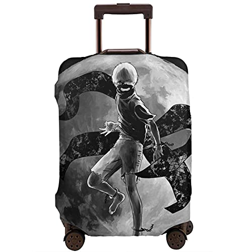 Tokyo Ghoul - Protector de maleta de viaje único, lavable, bonito e interesante reconocimiento elástico