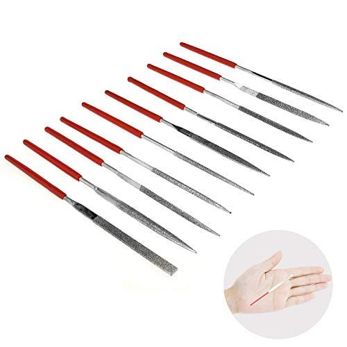 Kalim MINI Diamond Needle File Set (10pcs 150 Grit Precision Diamond File)