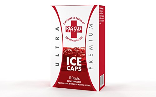 Rescue Detox Ice Caps Unflavored 12 Capsules