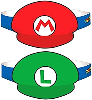 Super Mario Brothers Paper Hats, Party Favor