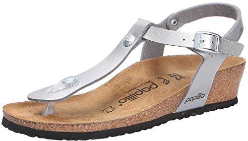 BIRKENSTOCK Ashley Damen Sandalen Metallic Silver, EU 38