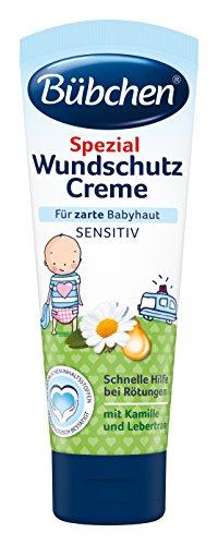 Bübchen Spezial Wundschutz Creme, sensitive Wundheilsalbe, Wund- und Heilsalbe für zarte Babyhaut, mit Kamille und Lebertran, Menge: 1 x 75 ml