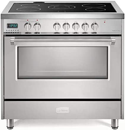 Verona Designer Series VDFSEE365SS 36 Inch 5 0 Cu Ft Electric Range Oven 5 Burners Dual Center product image
