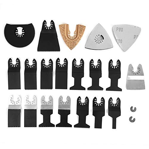 Hojas de sierra, hoja oscilante 26 piezas universales para cortar madera, metal, plástico, etc. para talleres domésticos