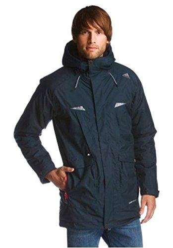 adidas Kapuzenjacke Herren Parka Winter Jacke Wasserdicht Blau Climaproof (46)