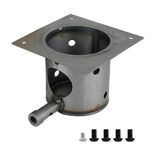 Ecisi Fire Burn/Fire Pot Upgrade Piezas de Repuesto de Metal Accesorios de Quemador de Parrilla para Quemador de Parrilla de Pellet Traeger (Incluye Tornillos y Olla de Fuego)