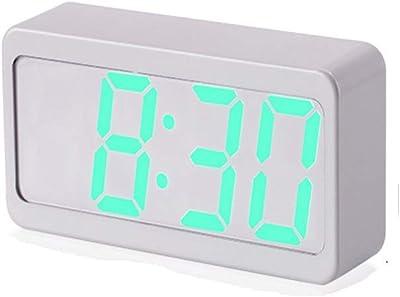 Despertador electrónico escritorio de la cabecera Led Reloj despertador electrónico Color colorido Control de voz Reloj