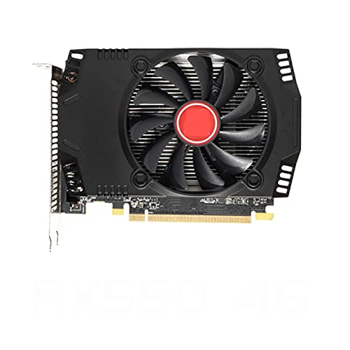 Tarjetas de Video Fit for VEINEDA RX 550 de 4GB, Tarjetas gráficas GPU GDDR5, PC, computadora de Escritorio, Mapa de Juegos PCI-E X16 para AMD Radeon RX550 4GB