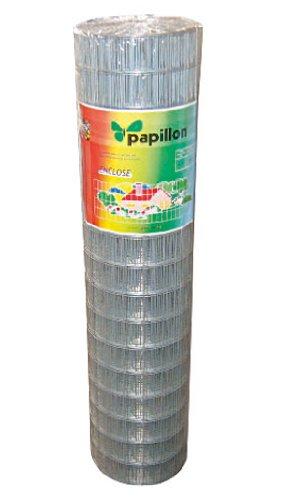 SATURNIA Papillon 1200170 Malla Electrosoldada Galvanizada, 75 x 50/1,80/100 cm, Ga, Rollo 25 Metros