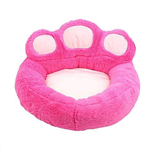 Fablcrew. 1 Pezzi Cuccia Letto per Cani Piccoli Gatti Peluche Ultra-Morbido Lavabile in Lavatrice Lettino per Animali Domestici Forma di Zampa d'orso