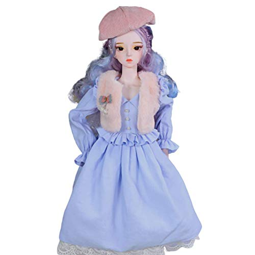 NLRHH 23.6 Pulgadas Figura Femenina Figura 1/3 Navidad de acción de Gracias con Zapatos y Pelucas de Ropa, for Mayores de 7 años de Edad, Regalo de cumpleaños Infantil Peng