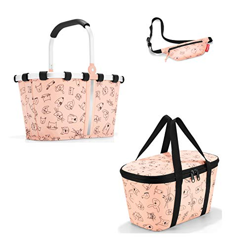 reisenthel Kids Einkaufskorb/carrybag XS und Isotasche/coolerbag XS cat´s and Dog´s Rose