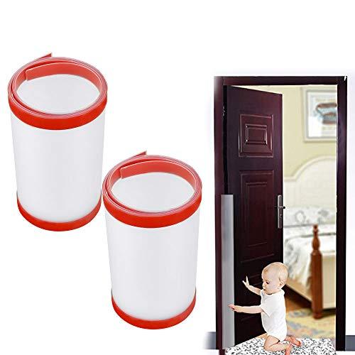 UTRUGAN 2 PCS Protector Puerta de PP Anti-Pellizco Protectores de Pellizcos de Dedos Guardia de Seguridad para Niños, Bebé (Translúcido, 120 cm)