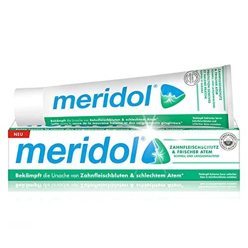 Meridol Zahnpasta Zahnfleischschutz & frischer Atem 75 ml - bis zu 12 Std. Schutz vor schlechtem Atem