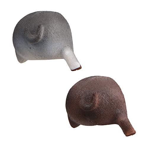 Kilwoe Lindo imán de cerdo adhesivo para colgar llaves, hebilla magnética, decoración del hogar, accesorios de decoración del hogar